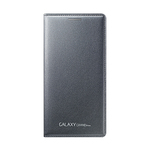 Grand Prime Wallet Flip Cover, Charcoal