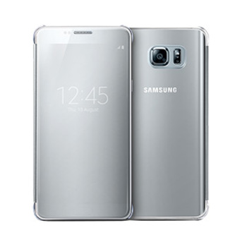 9799SAEFZN920CSEG Samsung Galaxy Note 5 OEM Silver Clear View Cover