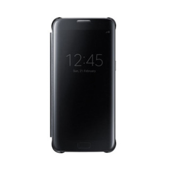 15-00488 Samsung Galaxy S7 Edge OEM Black Clear View Cover